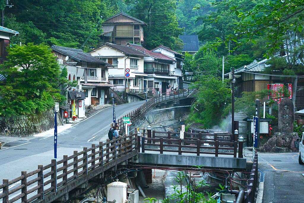 Younomine, onsen hot spring town along Kumano Kodo trail