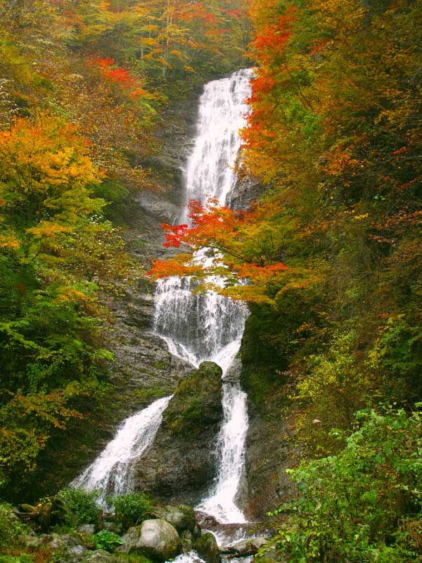 NWW Karasawa waterfall in autumn