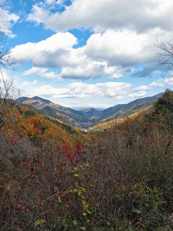 Narai valley in autumn