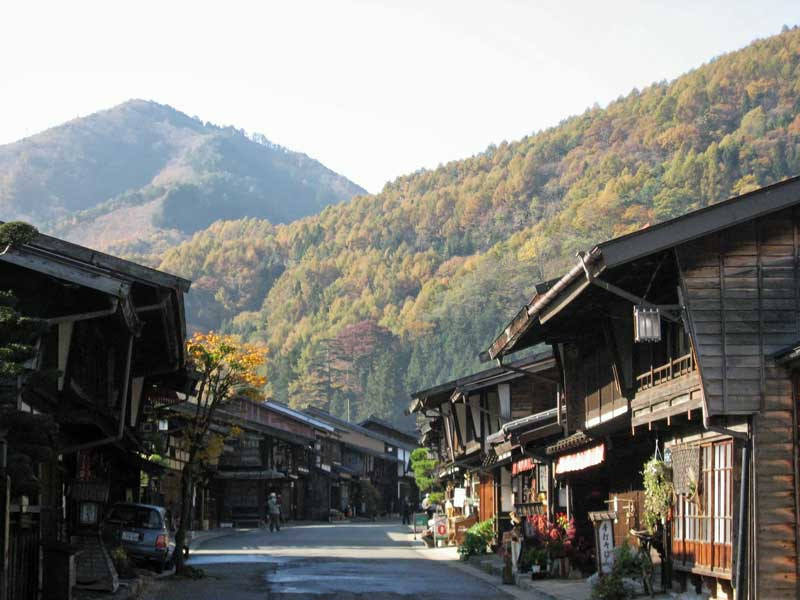 Traditional Japanese inns in Narai, Nakasendo Way