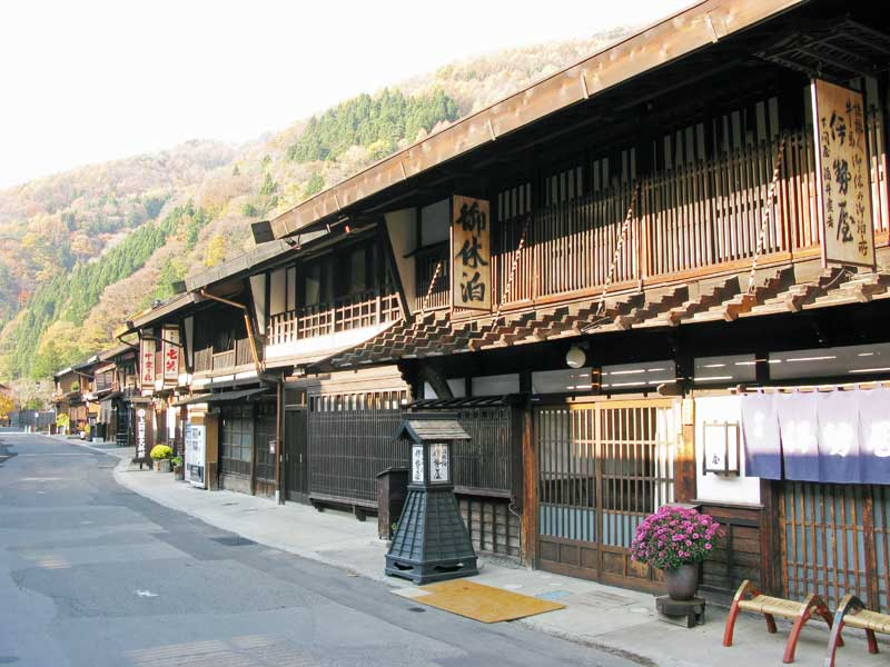 Nakasendo Way traditional Japanese inns Narai