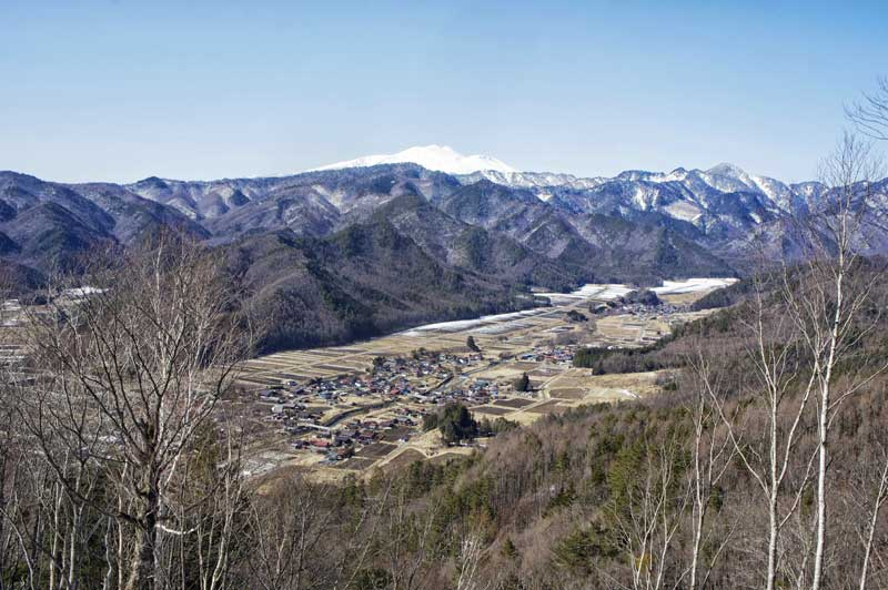 View over Kaida plateau from Walk Japan's Winter Nakasendo Way